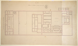 Plan of the palace, Gurramkonda